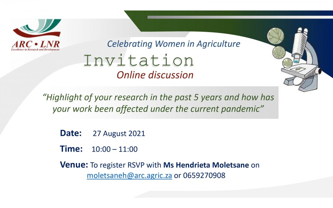 ARC Online Discussion | Celebrating Women in Agriculture