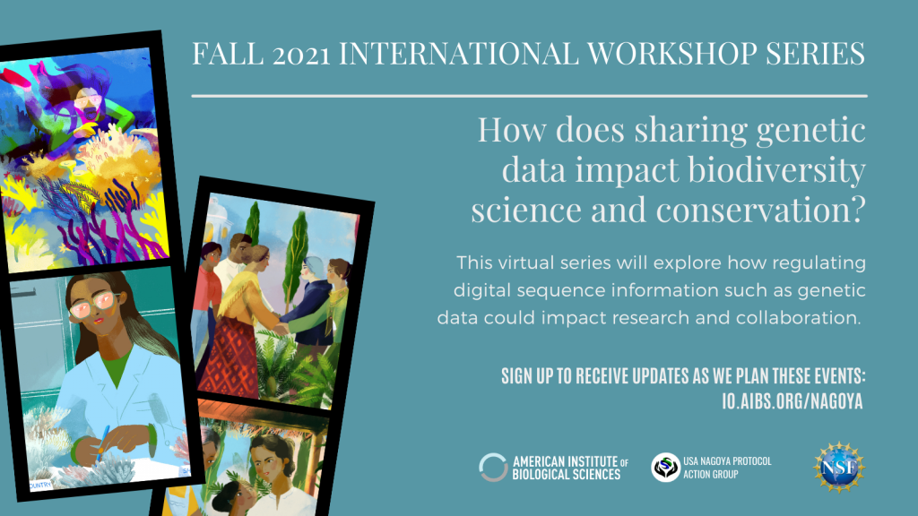 International Workshop Series: How does sharing genetic sequence data impact biodiversity science and conservation?